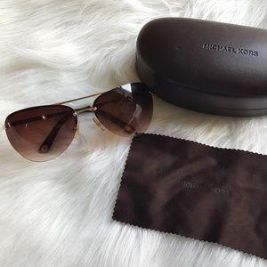 MICHAEL KORS M2001S Wome Sunglasses Shiny Gold 717